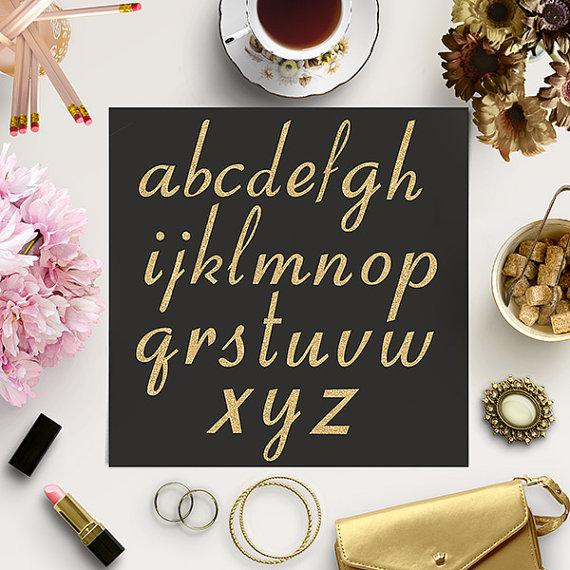 Hochzeit - BUY 5 FOR 8 Gold Glitter Alphabet, Gold Letters, Glitter Font Clipart, Sparkle Letters, Gold Alphabet, Fancy Gold Type Clipart