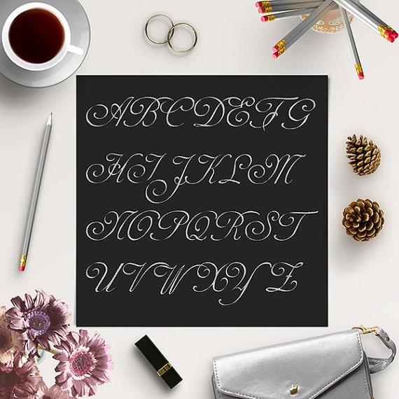 Hochzeit - Glitter Alphabet Clip Art / Silver Glitter Letters / Silver Glitter Alphabet Clipart / Silver Font / Coupon Code: BUY5FOR8
