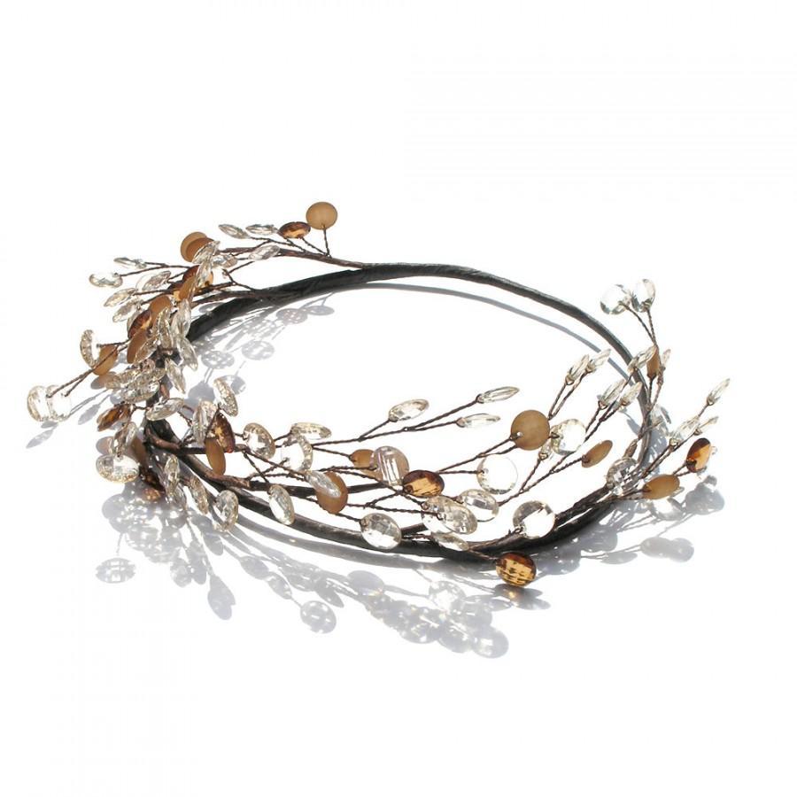 Mariage - Rustic Hair Accessories, Wedding Circlet, Country Bride, Fairy Head Wreath, Woodland Hair Wreath, Grecian headpiece, Halo
