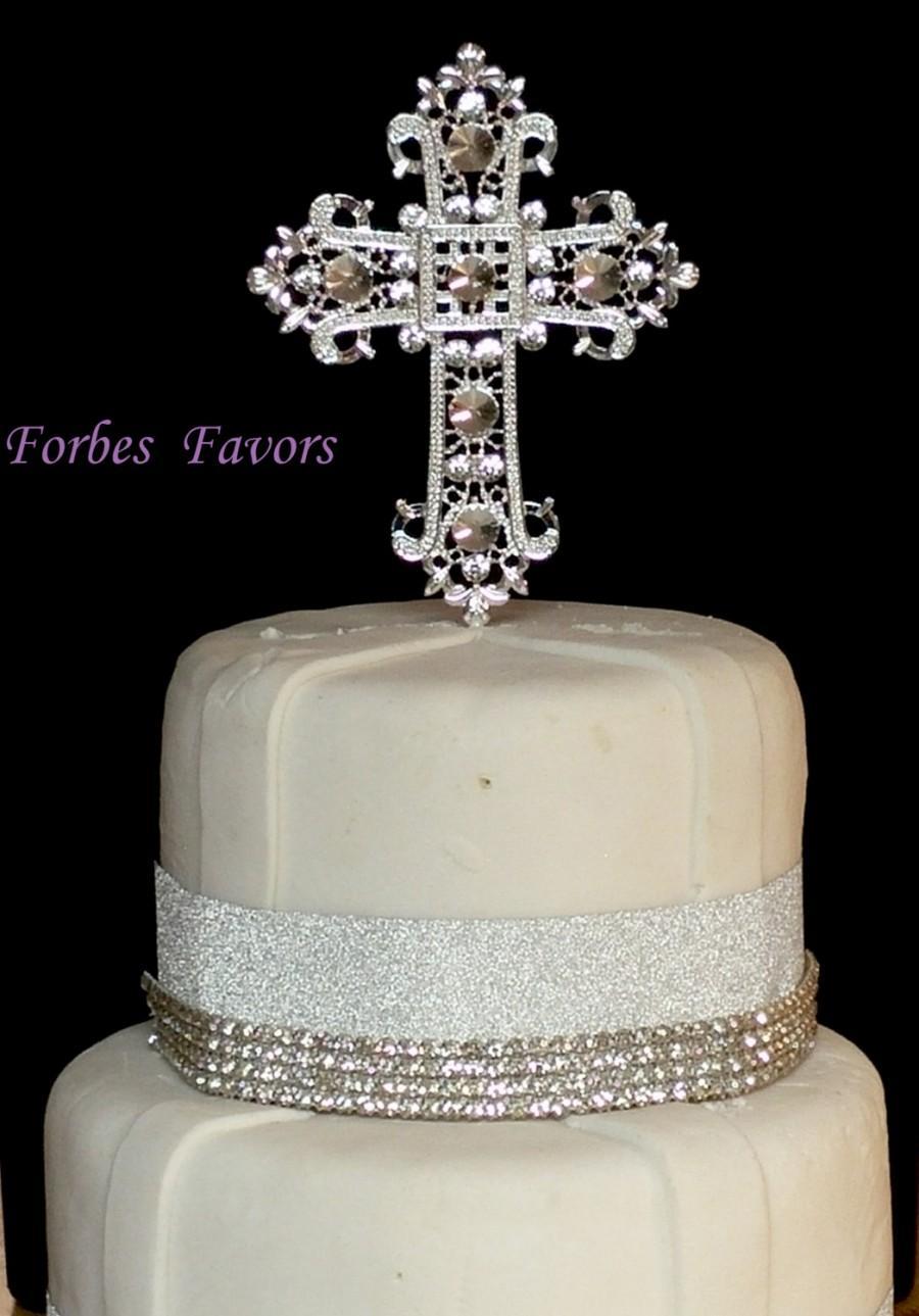 Boy Christening Baptism Cake Topper