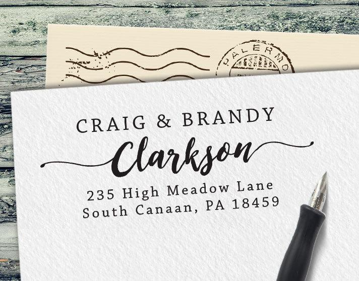 custom rubber stamp personalized address stamp custom stamp