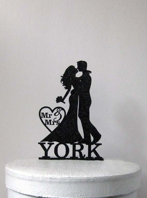 Mariage - Personalized Wedding Cake Topper - Bride and Groom wedding with Mr&Mrs Last name