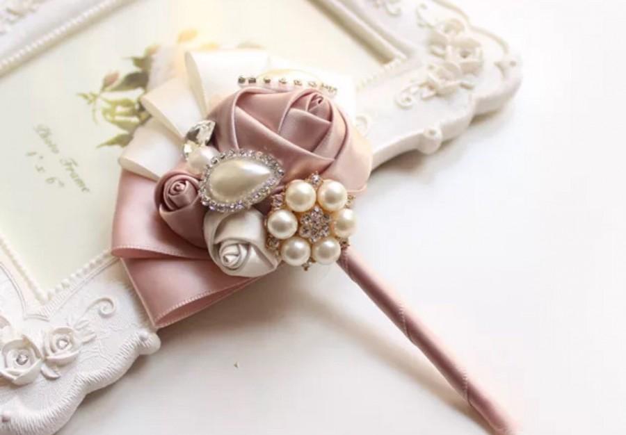 Mariage - brooch boutonniere, wedding bouquet, bridal bouquet, bridesmaids bouquets, wedding decor, brooch decor, brooch accessorie