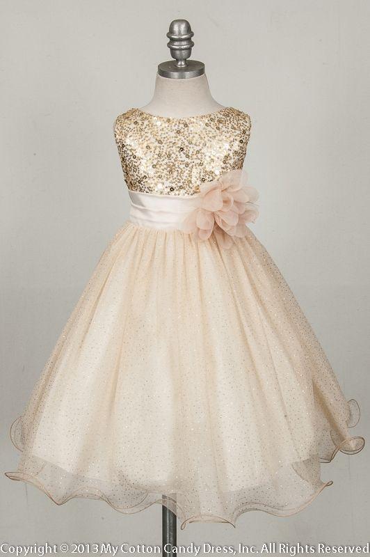 67717b04c46 Flower Girls   Ring Bearers - Champagne Flower Girl Dress  2532104 ...
