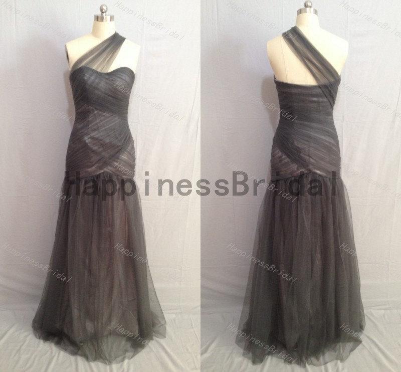 زفاف - Grey sheath tulle dress,long prom dress,evening dress,fashion bridesmaid dress,fashion prom dress,formal evening dress,long formal dress