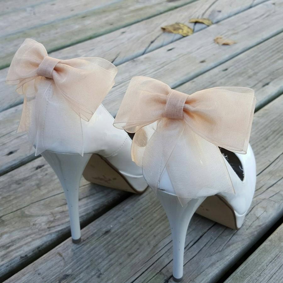 Mariage - Shoe Clips, Shoe Clips Wedding, Shoe Clips Bridal, SHoe Clips Bows, Shoe Clip Ons, Shoe Clips Wedding Shoes, Shoe Clips Champagne, Shoe Ons
