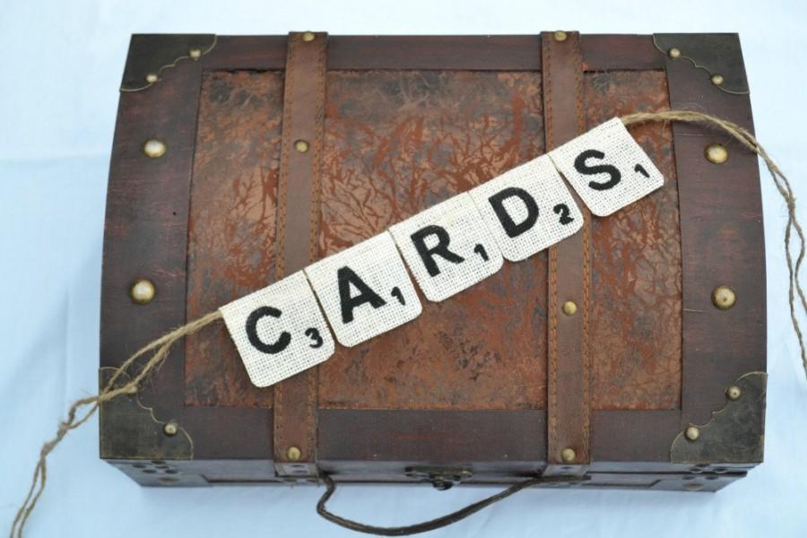 Mariage - Scrabble Banner   ..   Cards Banner  ..  Card Sign  ..  wedding card box