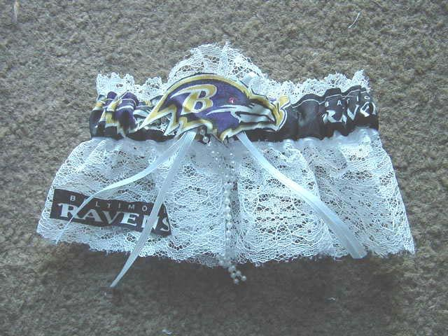 زفاف - Baltimore Ravens  NFL Football Wedding Bridal Garter Regular/Plus Size