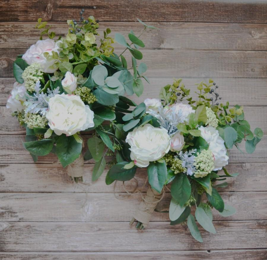 Wedding - Cream Boho Bouquet with Eucalyptus