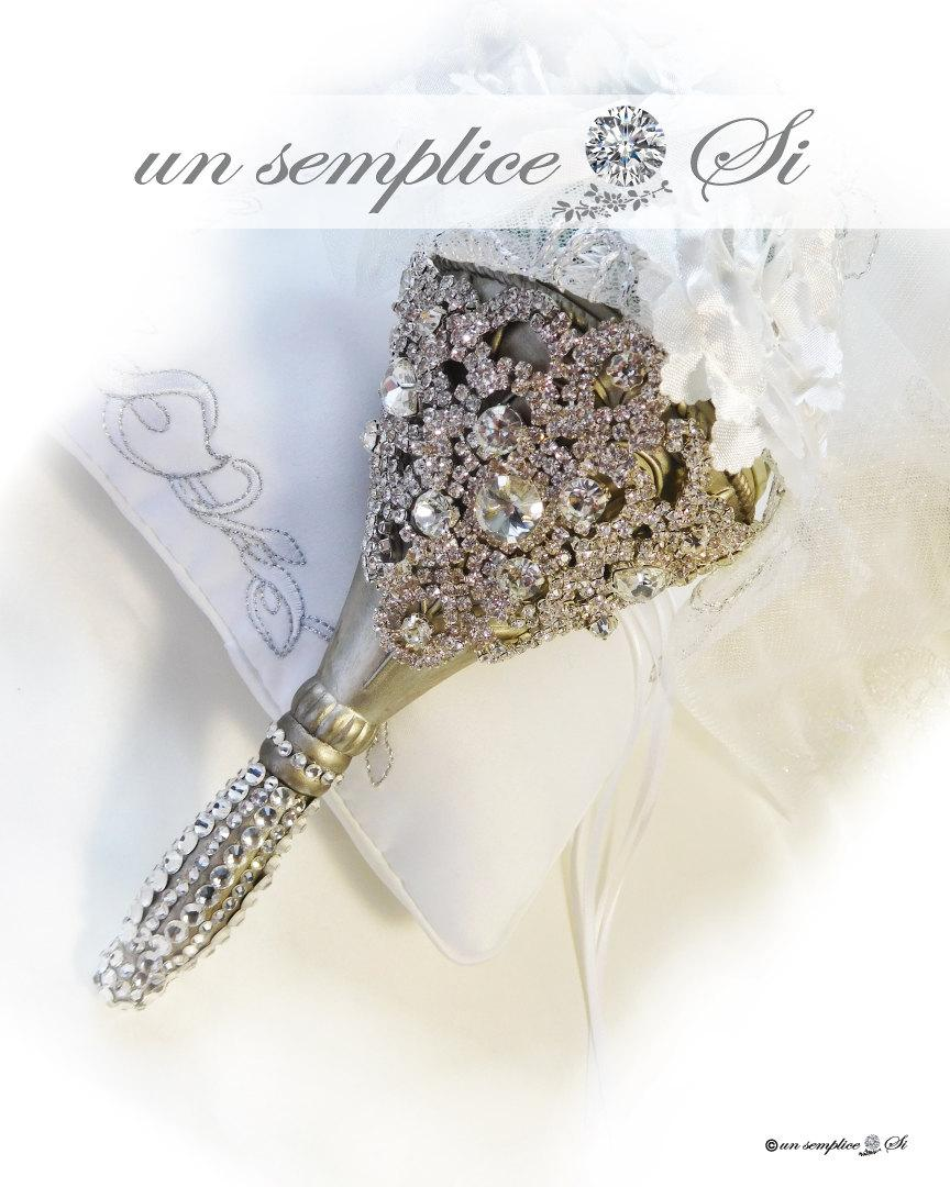 Mariage - Rhinestone Crystal Bouquet Holder