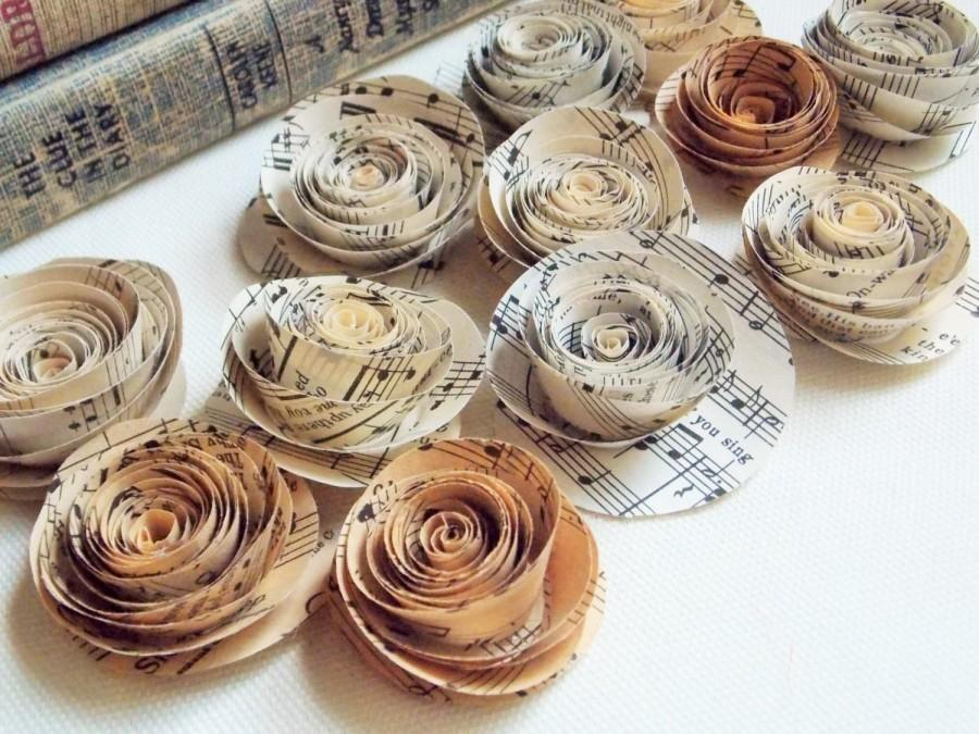Paper Flowers For Weddings Sheet Music Flowers Paper Flowers