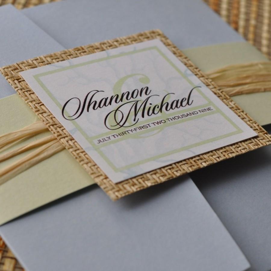 Pocket fold wedding invitation design fee bluegreen beach coral pocket fold wedding invitation design fee bluegreen beach coral design stopboris Gallery