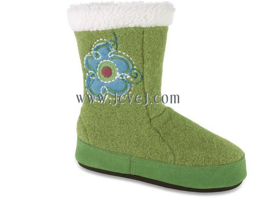 Mariage - ACORN Flower Power Boot Slipper,Kiwi Heather,9.5-10.5 M US Toddler