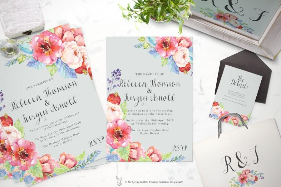 printable wedding invitation suite customizable wedding invites