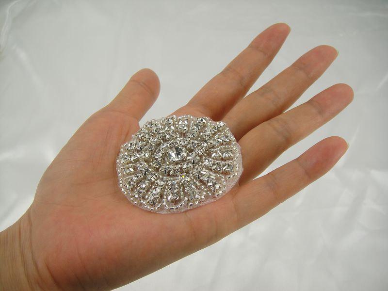 Mariage - Rhinestone applique, Bridal Sash Applique, Crystal Sash applique, diamante applique, wedding applique  Bridal Applique, Garter Applique