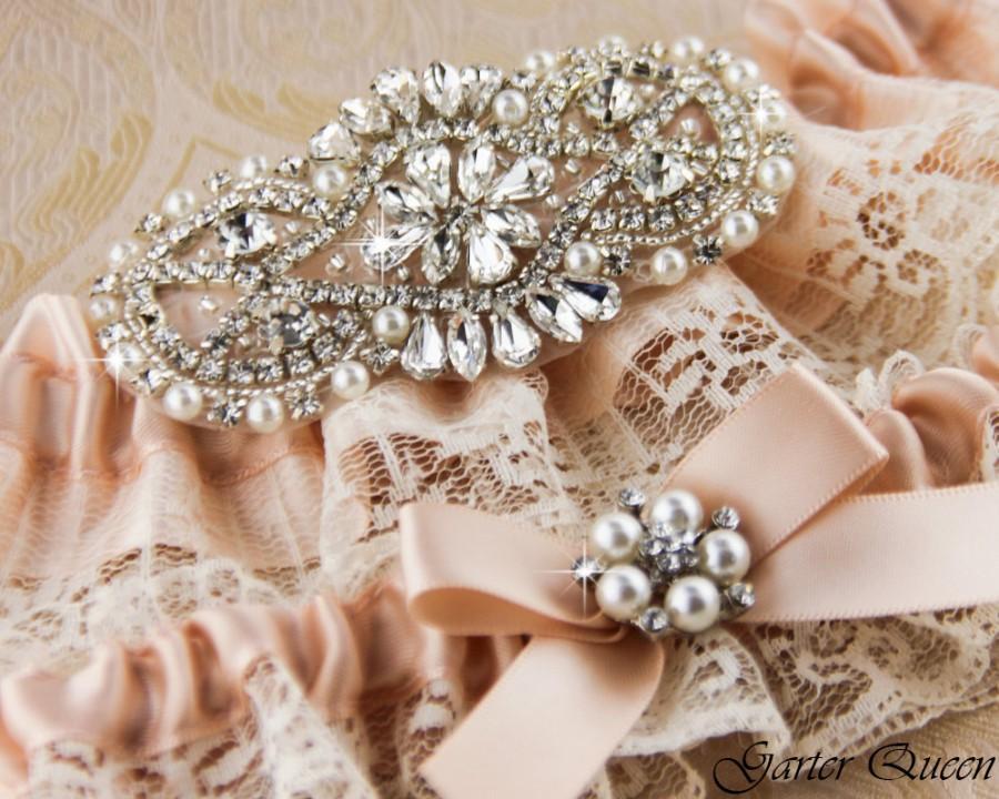 Mariage - Wedding garter set, Ivory Lace Bridal Garter set, Lace Wedding Garter Set, Ivory Lace Garter, Blush Garter Set