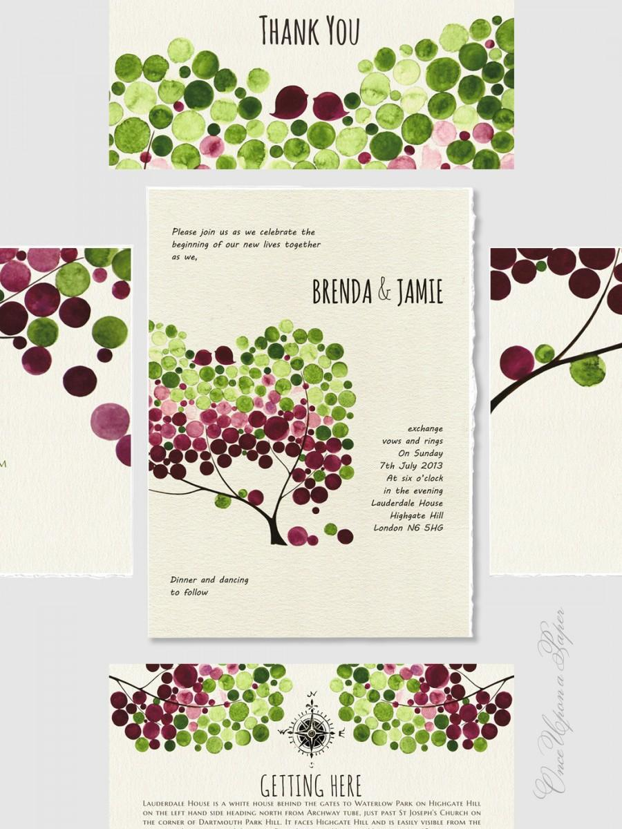 Escort & Place Cards Wedding Invitation Design Set Printable - Save ...