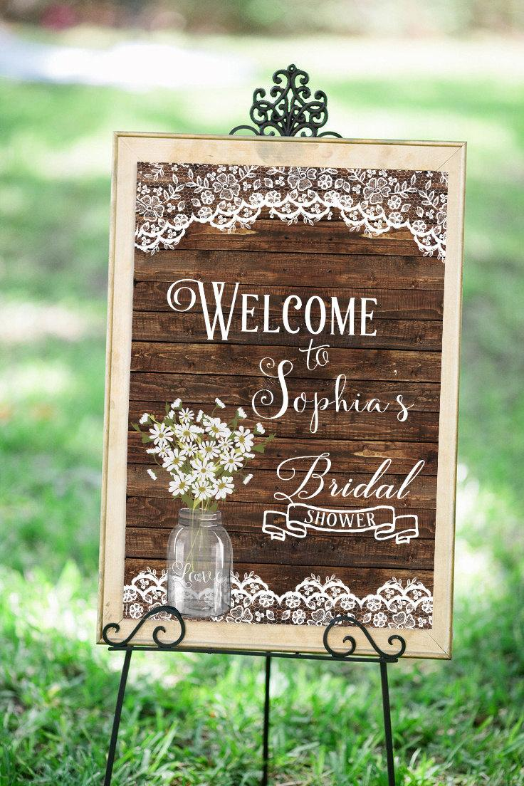Mariage - Wedding Welcome Sign, Bridal Shower Welcome Sign, Bridal shower sign Printable, Rustic Welcome Sign, Bridal Shower Decor