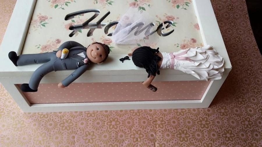 Mariage - Drunk Bride & Groom Wedding Cake Topper - Personalised- Outfits-Hair-Made to look like you..intoxicated! * FREE SHIPPING*