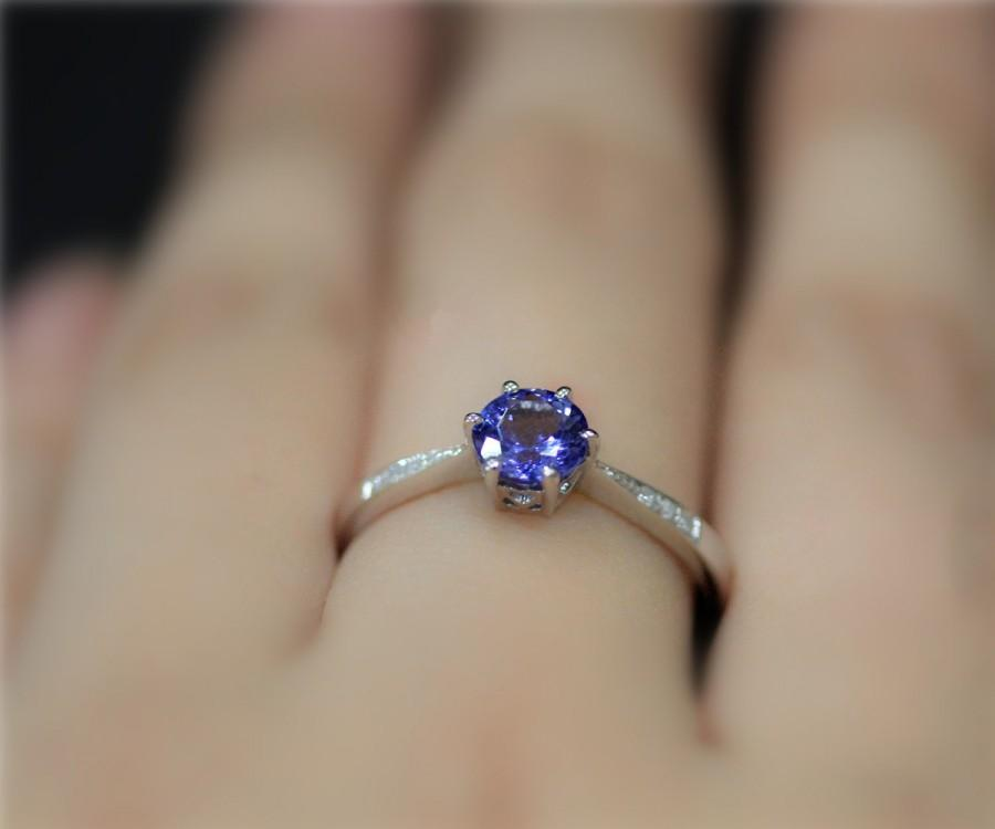 rings engagement shaped original ring with wedding tanzanite product caroleallenjewellery