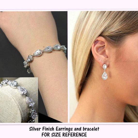 Crystal Bridal Earrings Bridal Jewelry SET Wedding Jewelry Set