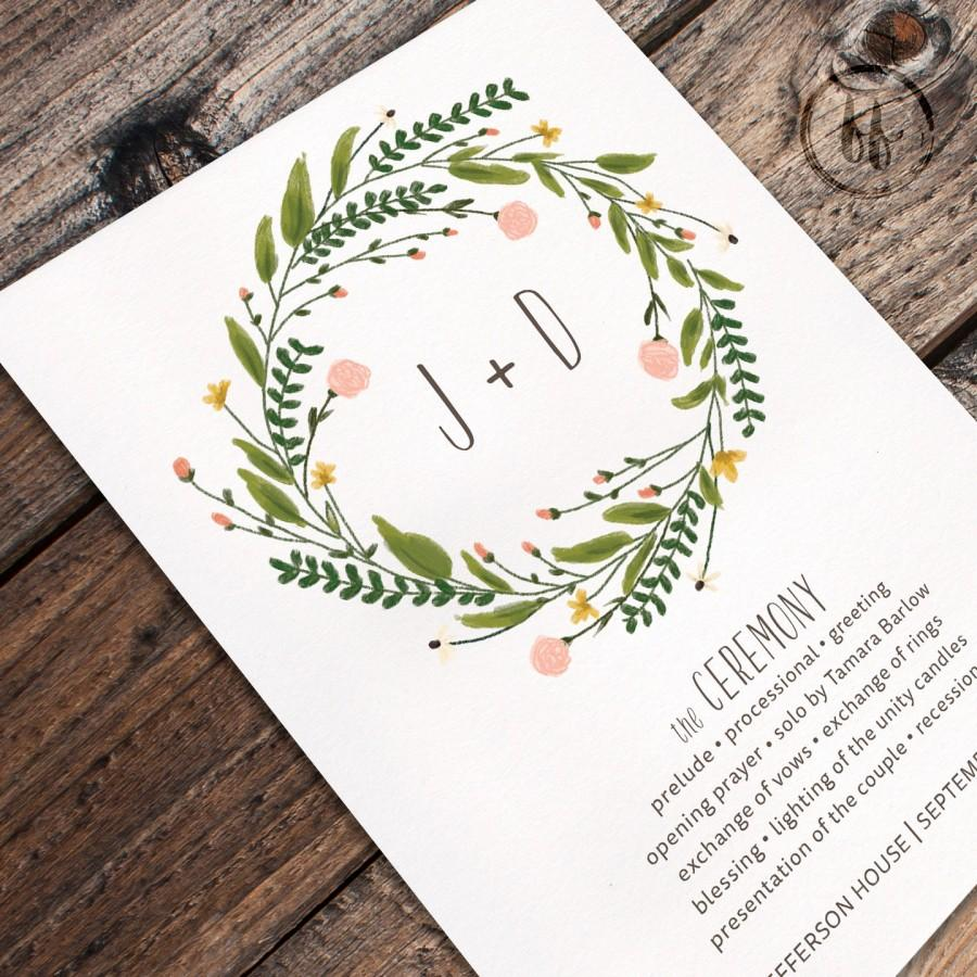 floral watercolor printable wedding program 2532736 weddbook