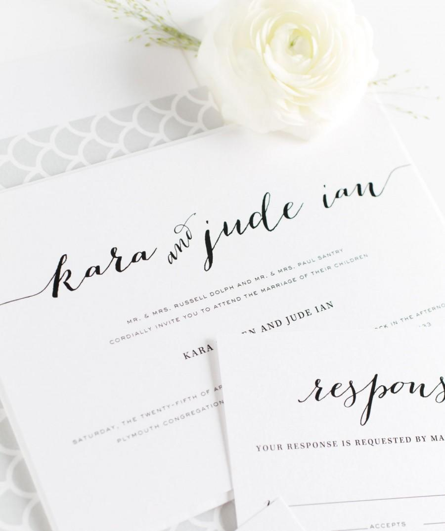 Romantic Wedding Invitations Calligraphy Wedding Invites