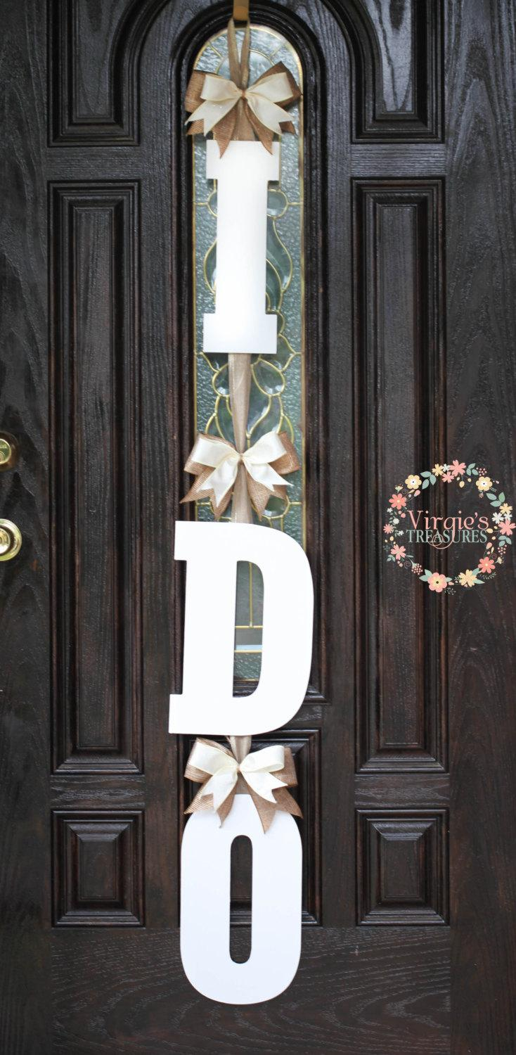 I do bridal shower door decoration i do wooden door hanger for Bathroom door decor