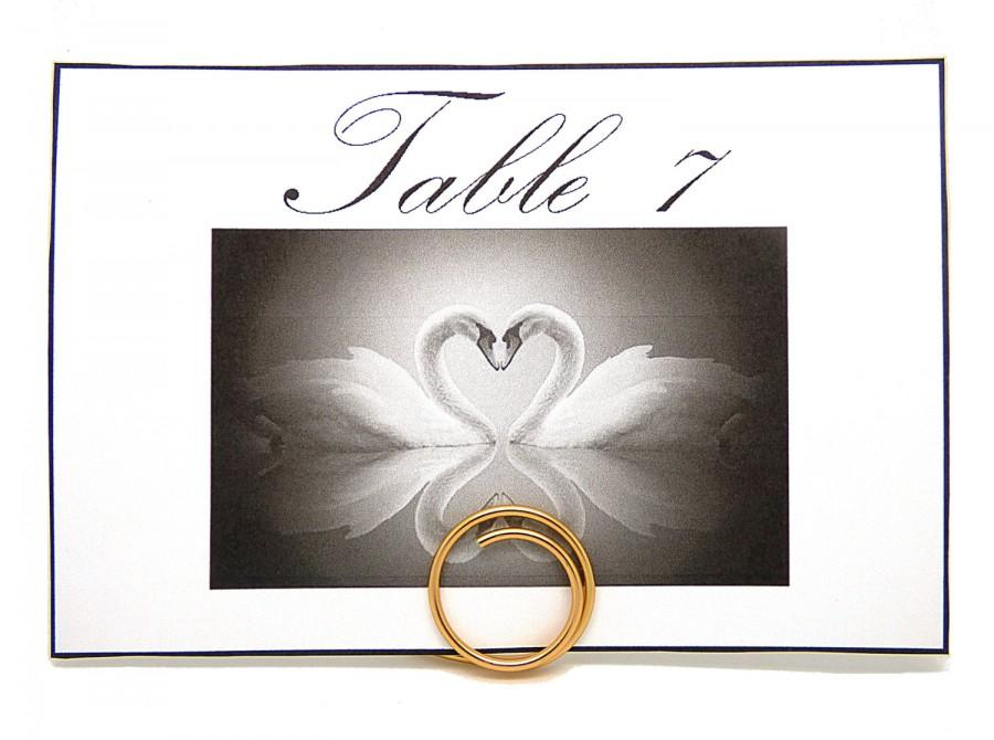 Hochzeit - Gold Table Number Holders, Number Place Card Stands, Set of 6, Wedding Guest Table Decorations, Circle Table Number Stand