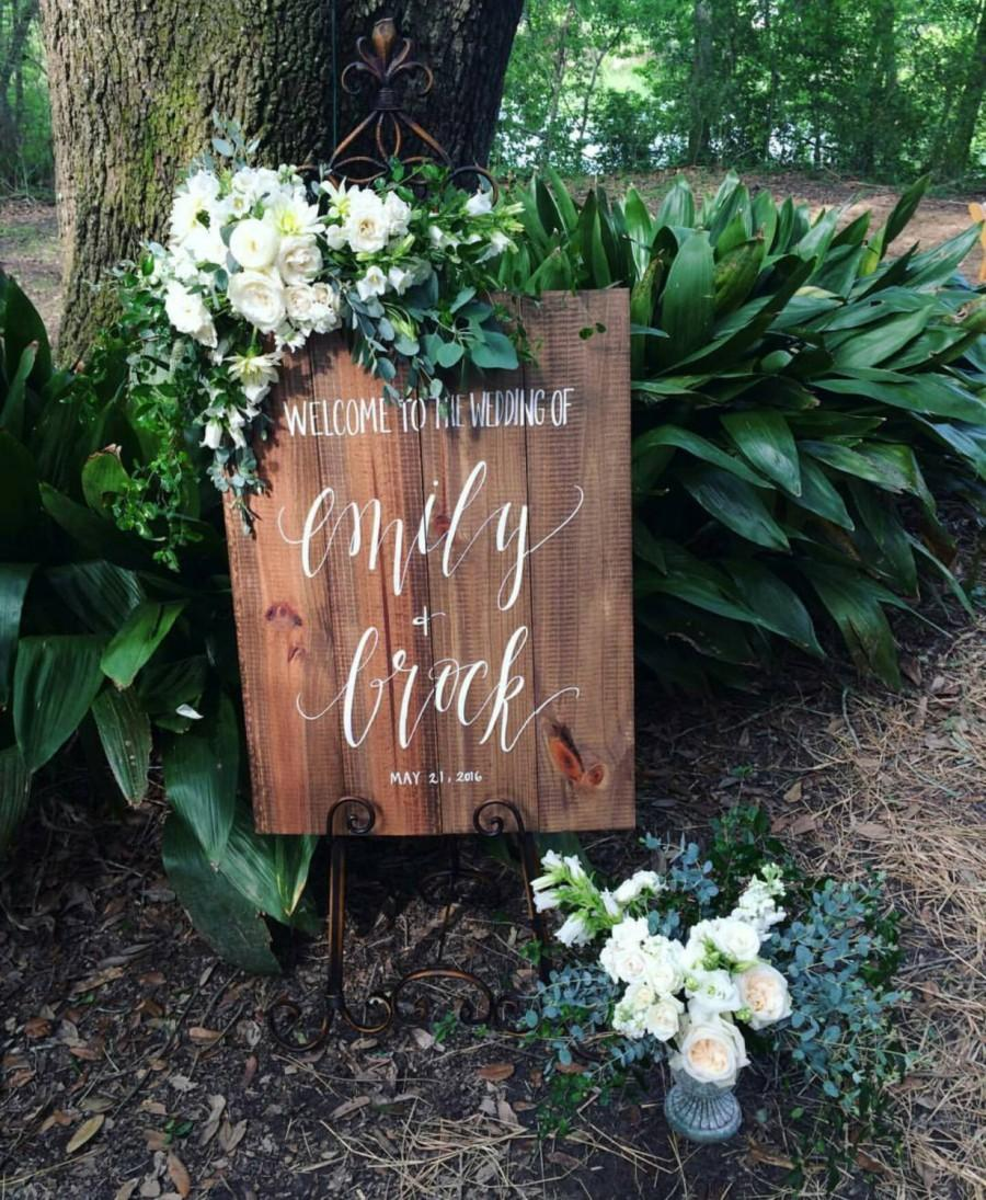 Personalized Wooden Wedding Sign Rustic Wedding Sign