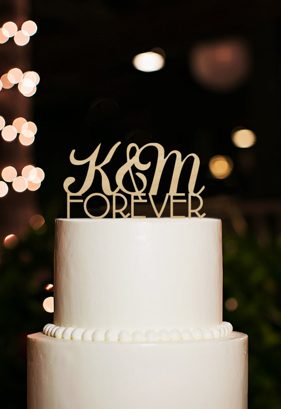 Wedding - Personalized Initial Cake Topper,Monogram Cake Topper,Wedding Cake Topper,Forever Cake Topper,Wedding Decoration,Rustic Cake Topper Wedding