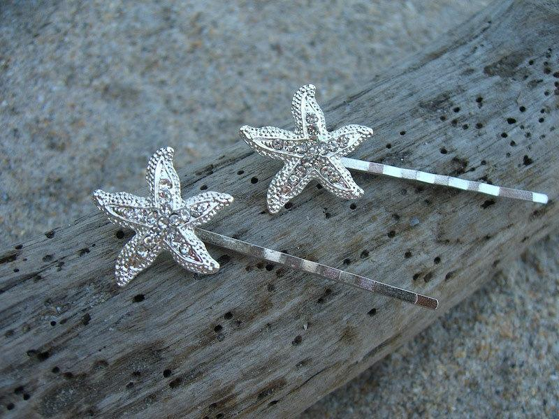 starfish beach wedding hair pinsoceannautical wedding