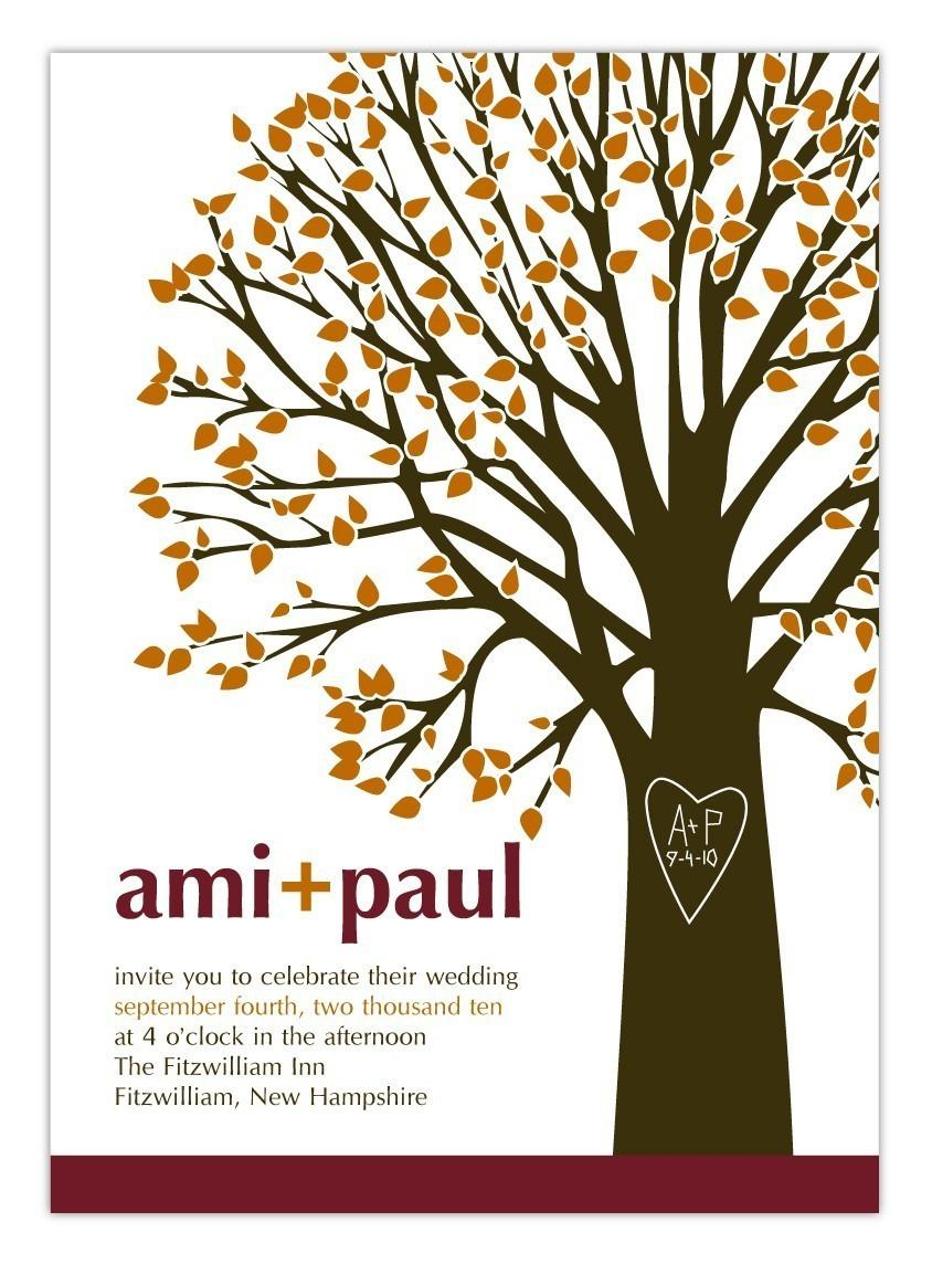زفاف - Wedding Invitation Initials and Heart Tree  - Deposit to get started