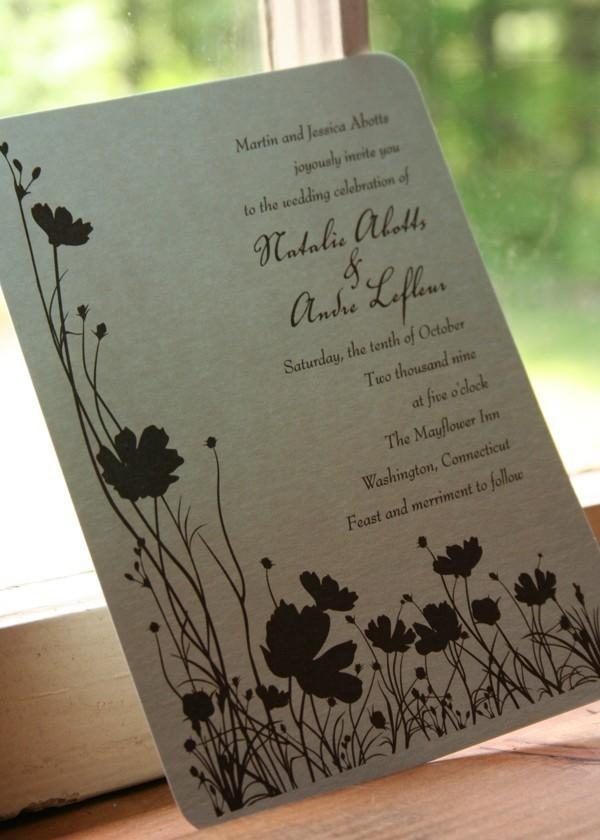 Wedding - Wedding Invitation Poppy Poppies - Deposit to get started