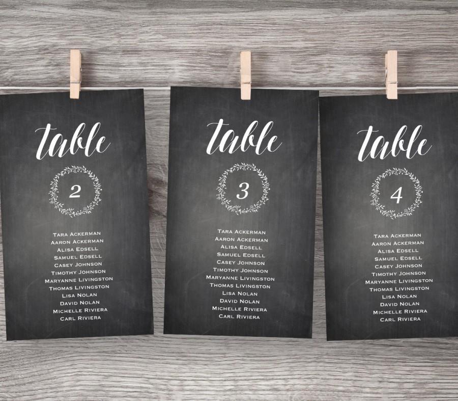 Chalkboard Wedding Seating Chart Printable Hanging Seating Plan - Wedding invitation templates: seating chart template wedding