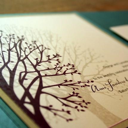 زفاف - Wedding Invitation Blooming Tree Pocketfold  - Deposit to get started