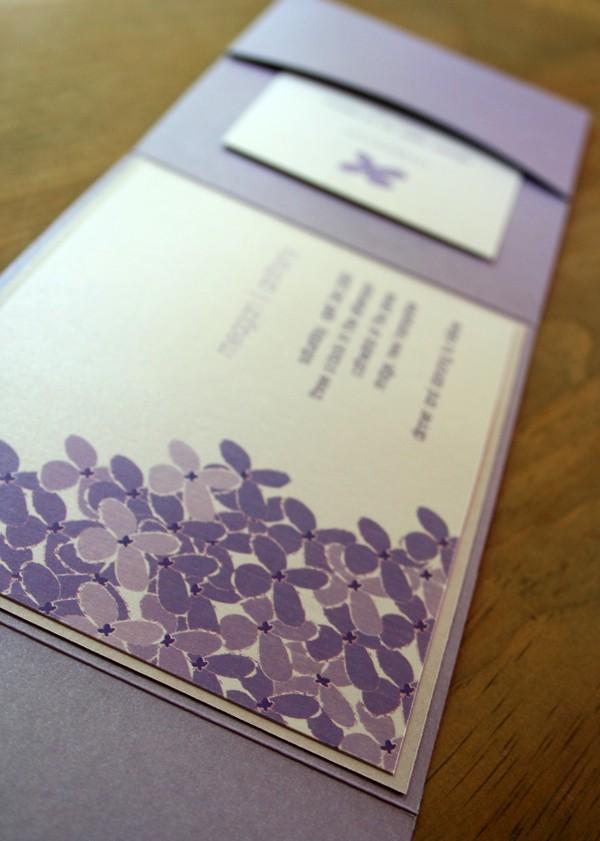 زفاف - Lilac Pocketfold Wedding Invitation - Deposit to get started