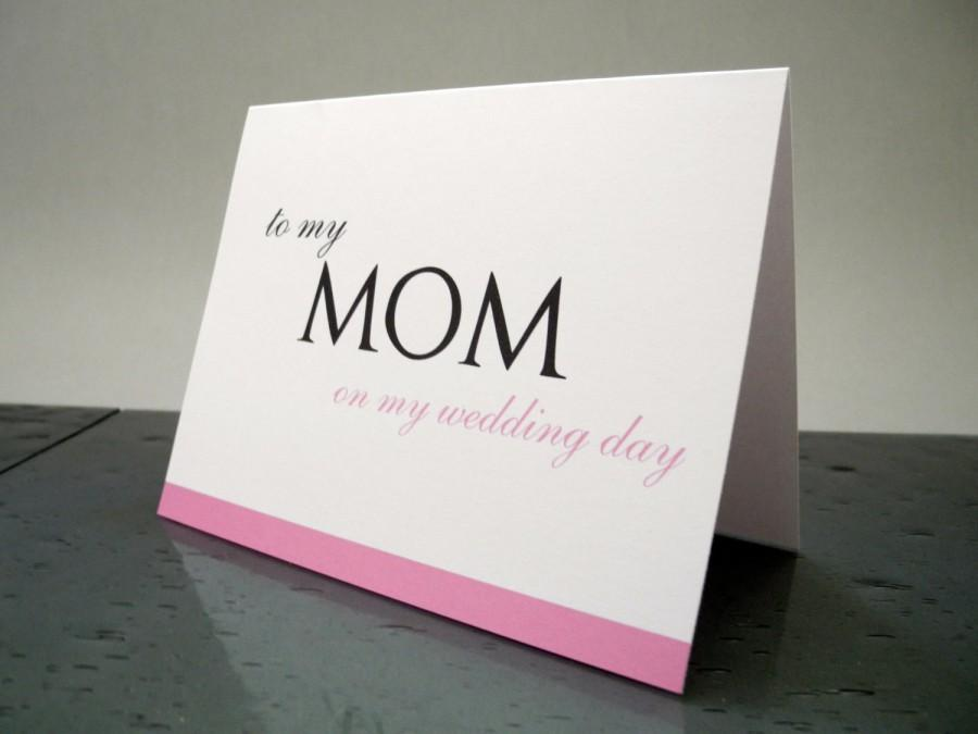 To My Mom On Wedding Day Card Mother Gift