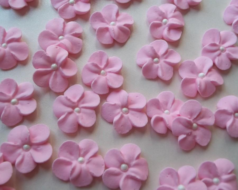 Cake Decorating Ready Made Flowers : Small Pink Royal Icing Flowers -- Ready To Ship ...