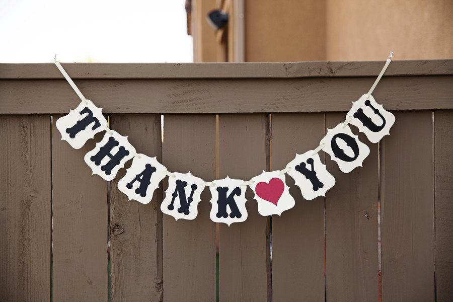 Hochzeit - THANK YOU banner for Weddings, Wedding Banners
