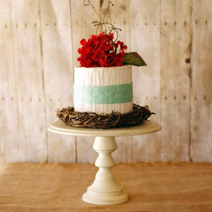 Hochzeit - One Rustic Pedestal Cake Stand DIY kit comes unpainted