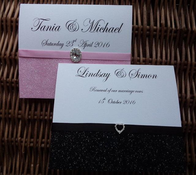 Wedding Invitations Renew Vows Invitation Glitter Wedding
