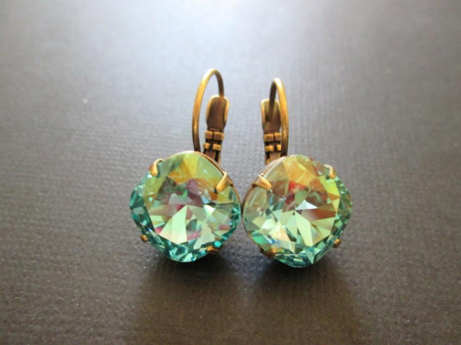 Aqua De Mer Swarovski Crystal EarringsBridesmaid JewelryDesigner