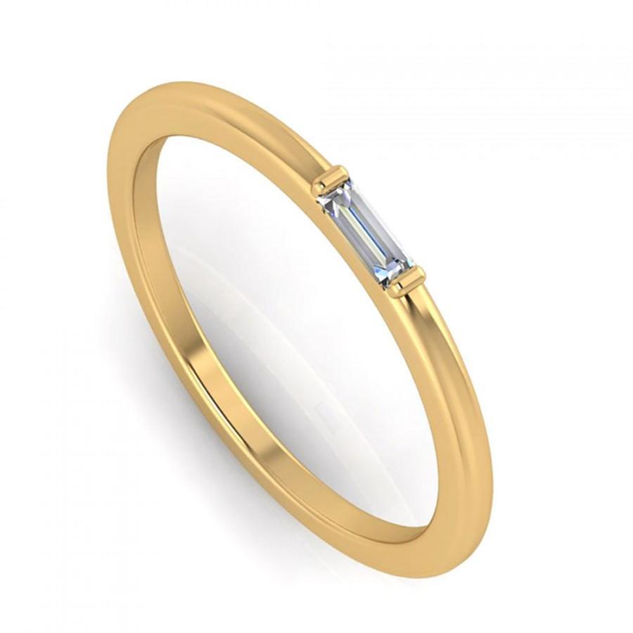 Свадьба - Diamond Ring, Unique Engagement Ring, 10k Yellow Gold Ring For Women
