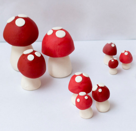 Mariage - Fondant mushrooms - Ready to ship in 1-2 weeks