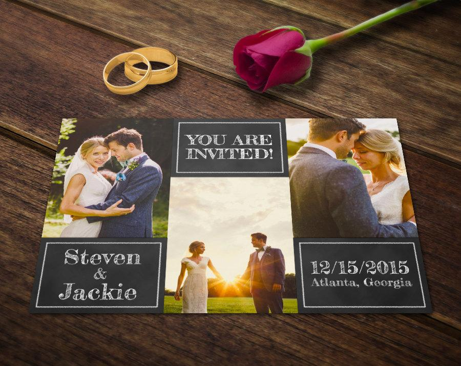 Wedding Invitation Card Template Photoshop Templates Photography - Card template free: postcard wedding invitations template