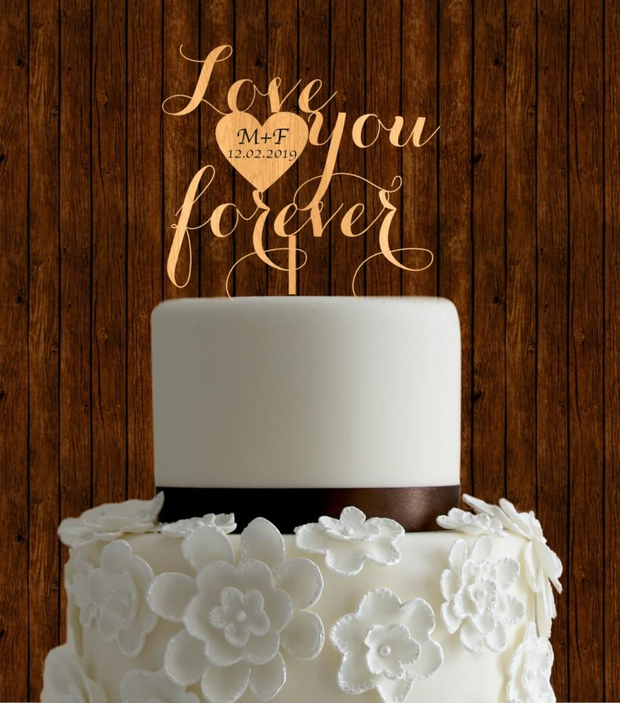 Hochzeit - Rustic cake topper, wedding cake topper, wood cake topper, unique cake topper, initial cake topper, diy cake topper, country cake topper