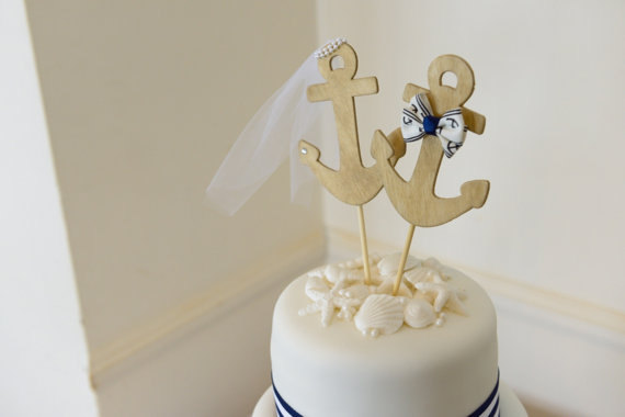 Anchors Away Wedding Cake Topper Anchors Boat Wedding Cake Topper Sailing Sailing Cake Topper