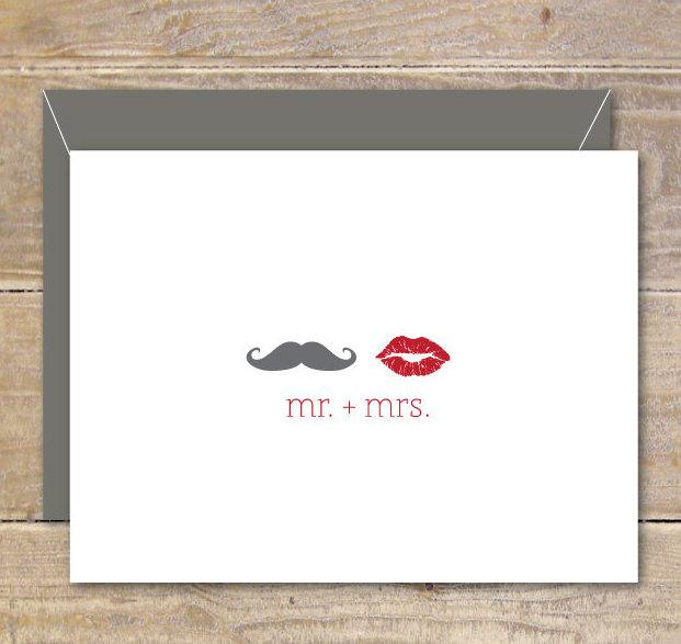 wedding thank you cards lips mustache lips and mustache bridal shower thank you cards wedding affordable weddings