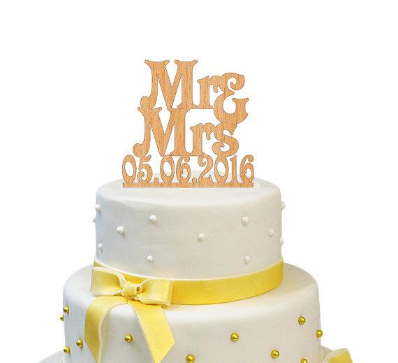 Wedding - Custom Wedding Cake Topper bride and groom Wooden Rustic Wedding Topper Wood Personalized Wedding Cake Topper Mr and Mrs Topper Wedding